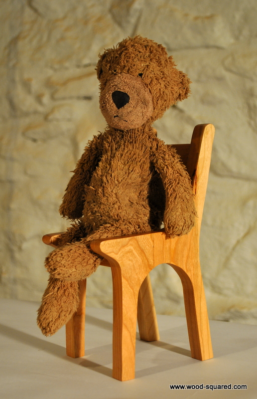 Mini Chair For A Teddy Bear Who Needs A Sit Down, Made From Cherry. Hand  Made From Solid Wood. Suitable For A Small/medium Sized Bear