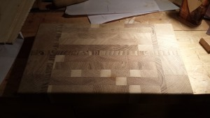 End grain chopping board - unfinished
