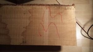 rough sawn oak board